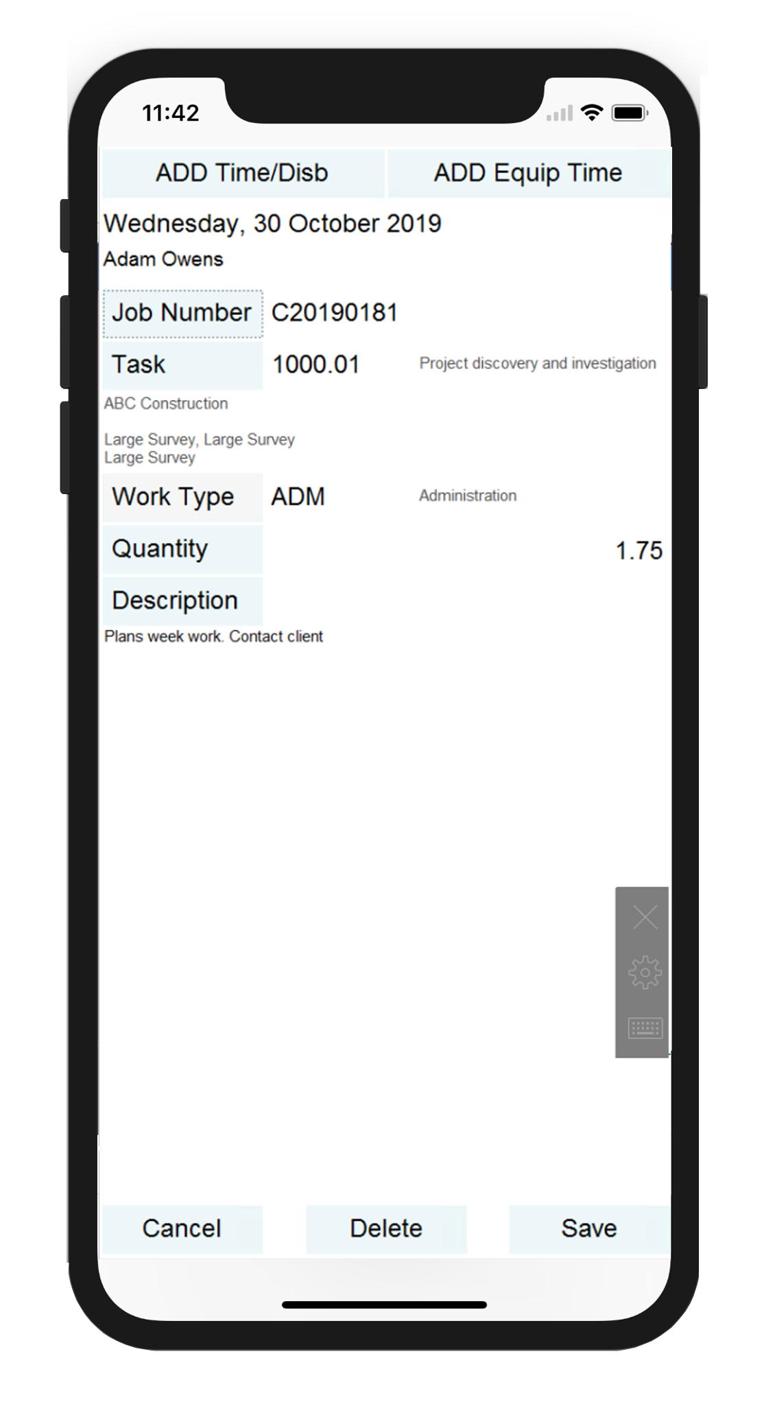 Mobile timesheet software to enter time and disbursements on Android & iOS and tablets. Time and disbursements are immediately available for review by managers, inclusion in WIP reports, export to payroll and billing by accounts.